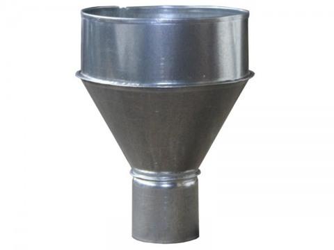 Воронка водосточная улитка из оцинкованной стали