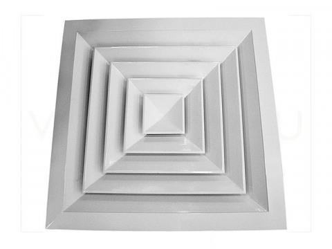 Вентиляционный диффузор потолочный квадратный 4 АПН 600 Х 600