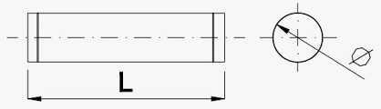 Круглый прямой участок воздуховода