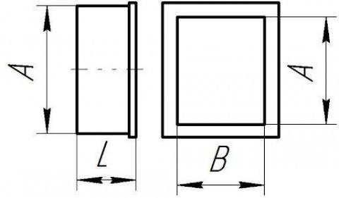Заглушка воздуховода прямоугольная