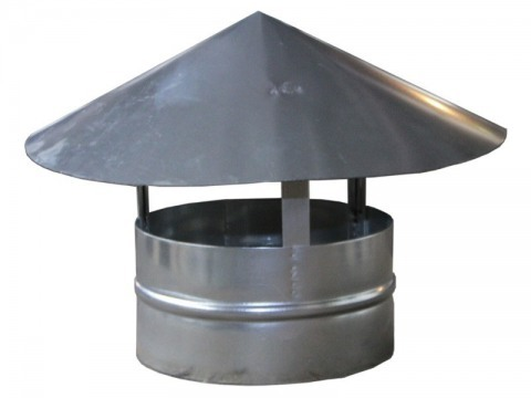 Зонт крышный для круглого оцинкованного воздуховода