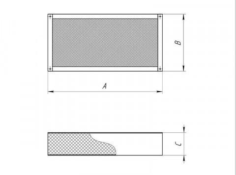 Пластина шумоглушения для прямоугольных воздуховодов