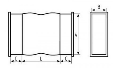 Прямоугольные гибкие вставки