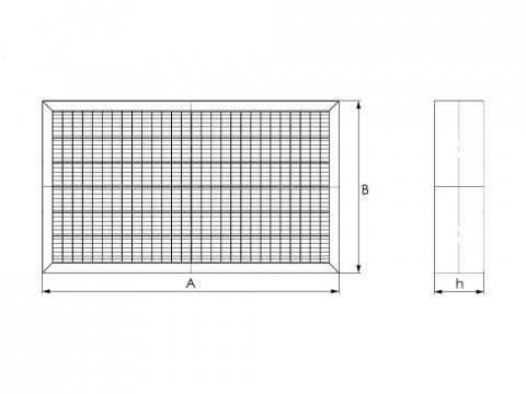 Вставка кассетного фильтра для прямоугольных каналов
